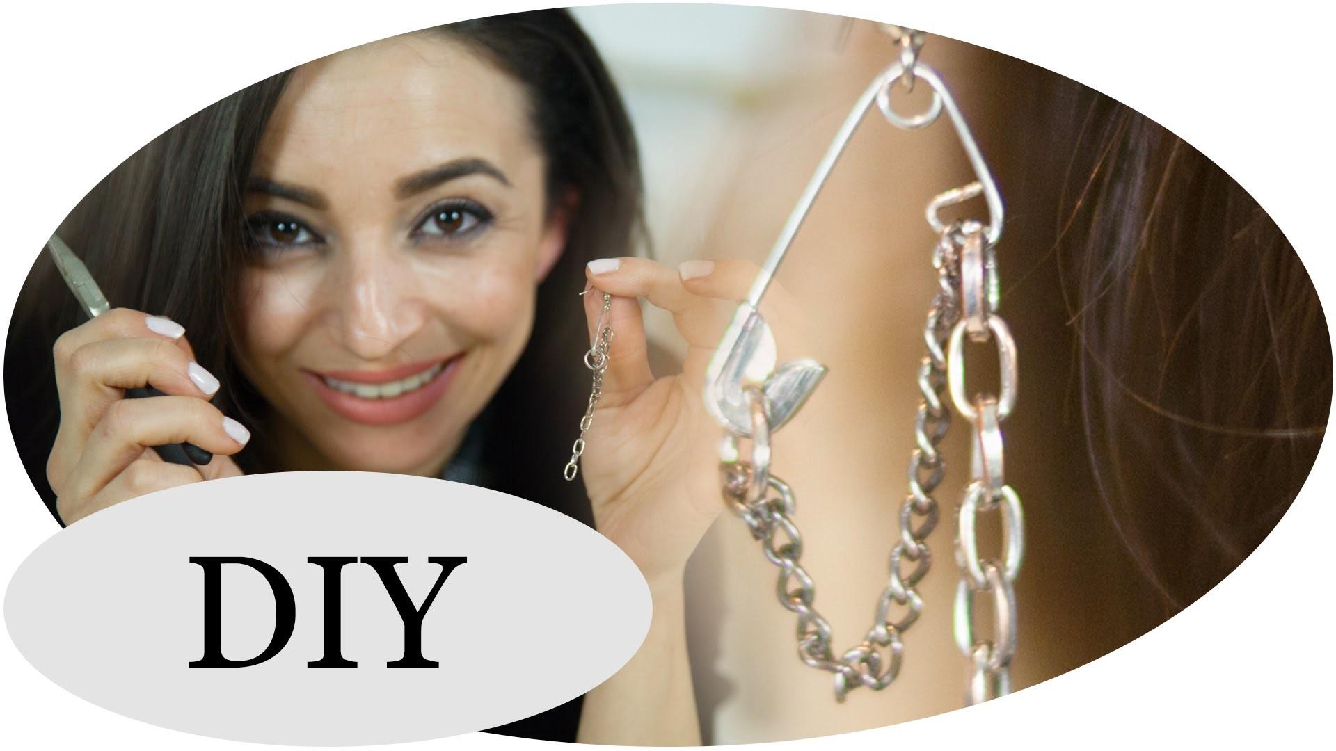 DIY: Punkige Ohrringe aus Sicherheitsnadeln