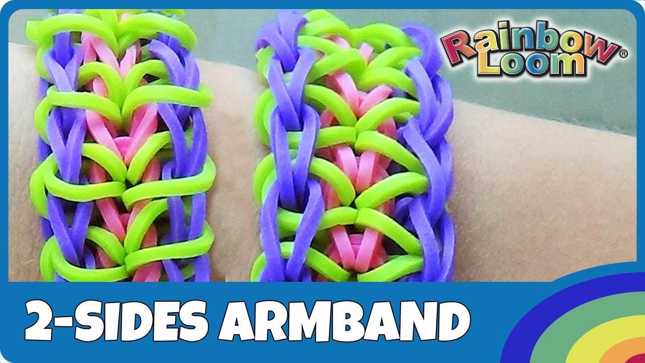 Rainbow Loom 2-sides Armband - deutsche Anleitung
