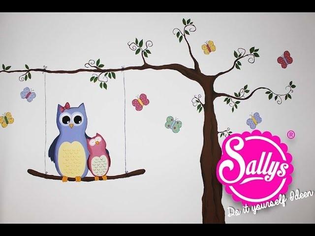 Sallys DIY Ideen: Kinderzimmer Bemalung. Eulenmotiv
