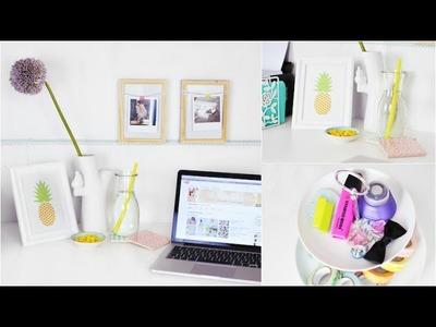 Schreibtisch MAKEOVER, neu dekorieren + DIY's | Back To School | ViktoriaSarina