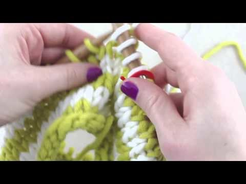 Simple Stylish Stricken - Tutorial: Strickkurs Technik 35: Farbstreifen in Runden stricken