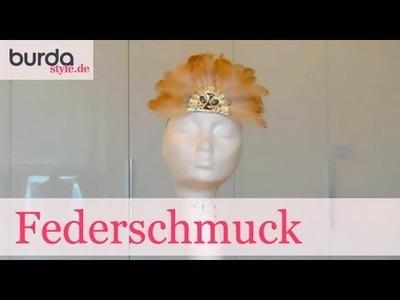 Burda style – Kopfschmuck mit Federn