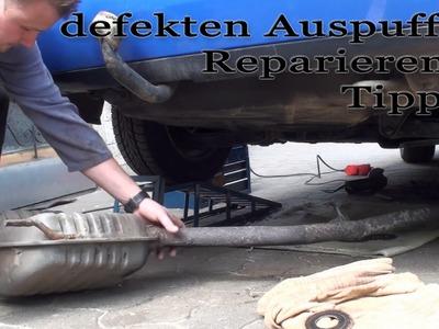 Defekten Auspuff Reparieren - schweißen (ausführliche Reparaturanleitung) M1Molter