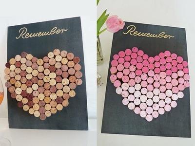 DIY: coole Pinnwand aus Weinkorken einfach selbst machen - Valentinstag | Deko Kitchen