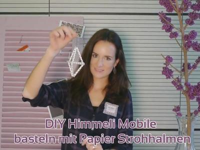DIY Himmeli Mobile - basteln mit Papier Strohhalmen | Weihnachts Bastelidee |  Mundart
