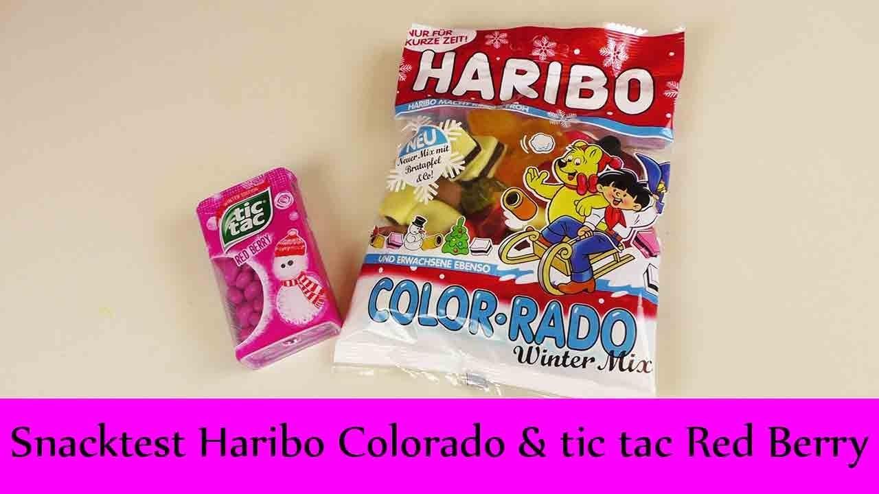 "DIY Inspiration Snacktest: Haribo Color-rado ""Winter Mix"" & TicTac ""Red Berry"" | Weihnachten"