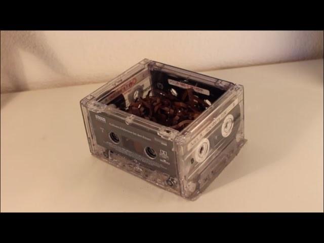 DIY: Kassetten Box basteln * Upcycling * Mitbringsel, Geschenk, Osternest