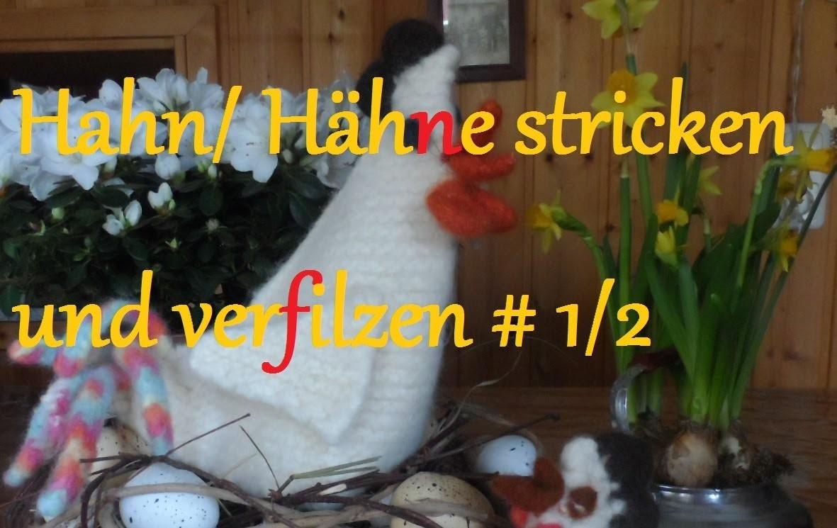 DIY:OSTER DEKO keka # Hahn.Henne stricken und verfilzen ,easy,Flaschenkühler,Eierwärmer,ect.(1.2)
