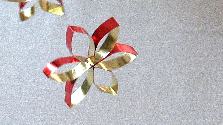 Einfacher Stern aus Bastelfolie basteln