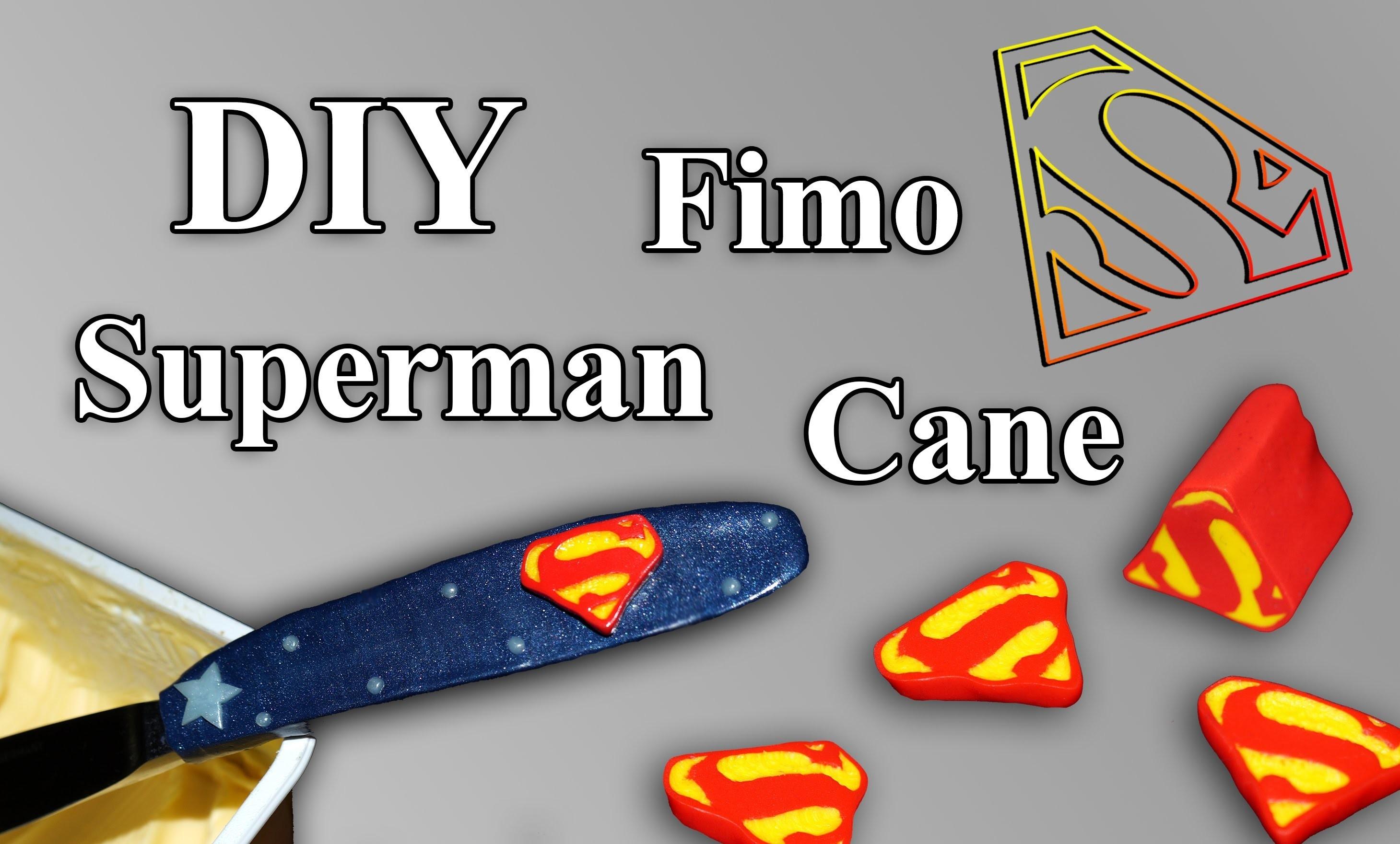FIMO Superman Cane: Polymer Knife - Tutorial [HD.DE] (EN-Sub)