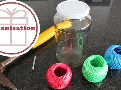Geschenkbänder organisieren | DIY | Upcycling | Organisation