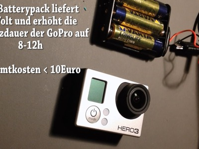 GoPro HERO3 Tutorial (german): Do-It-Yourself Batterypack (extend Battery Life up to 12 hours!)