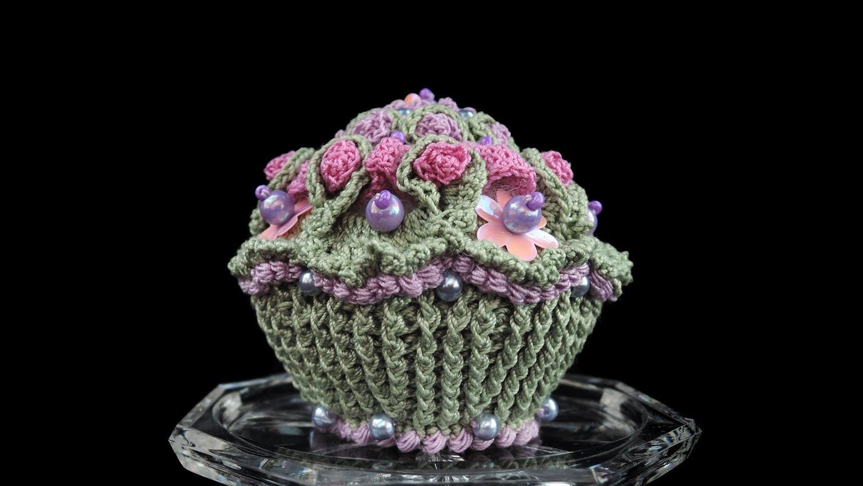 Lavendeltörtchen, Lavender cupcake HÄKELN, CROCHET