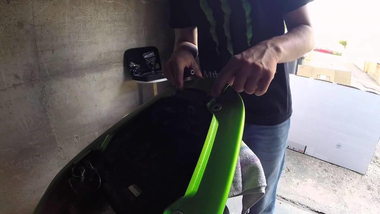 Motorrad Kawasaki ER6N Heckverkleidung demontieren DIY HowTo Tutorial