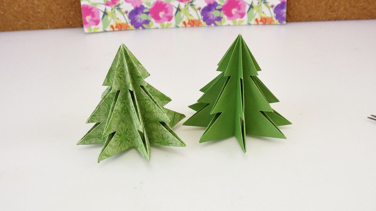 Origami für Weihnachten | DIY Tannenbaum selber machen | Süße Dekoidee für Weihnachten