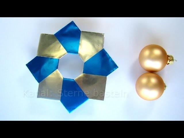 Origami Stern - Weihnachtssterne basteln - Weihnachten basteln mit Papier