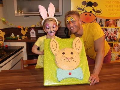 Osterhase Kuchen fuer Ostern mit Kindern backen - Majas kleine Backstube