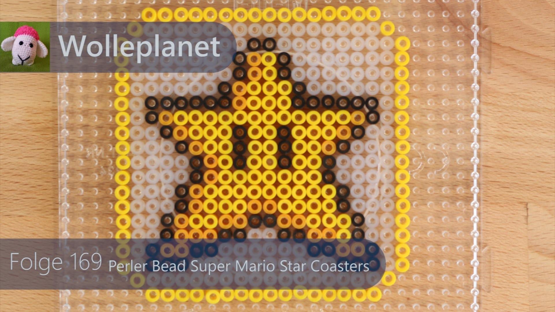 Perler Bead Super Mario Star Coaster Time lapse