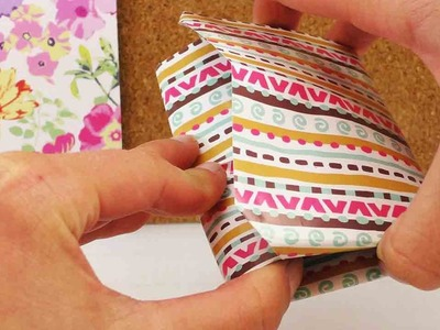 Portemoinee für Karten aus Papier falten - für ein Geldgeschenk oder als Einweggeldbörse