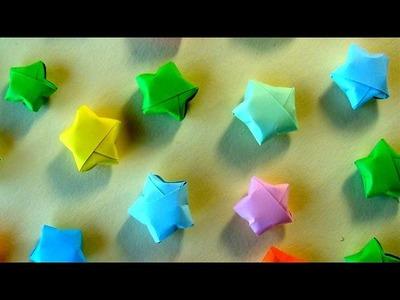Sterne basteln - Kleinen Origami Stern für Weihnachten falten - Weihnachtsstern
