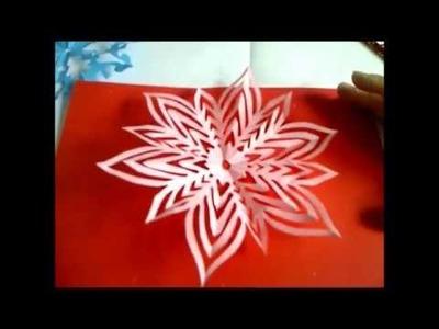 Weihnachtssterne, Schneeflocken, Schneesterne oder Schneekristalle basteln.  Weihnachtsdeko