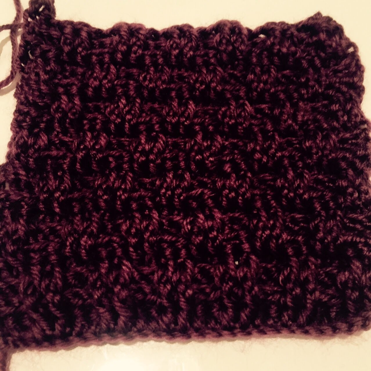 Ihr 89. Quadrat für ihre Patchwork Decke Häkeln sie lernen das Korbmuster