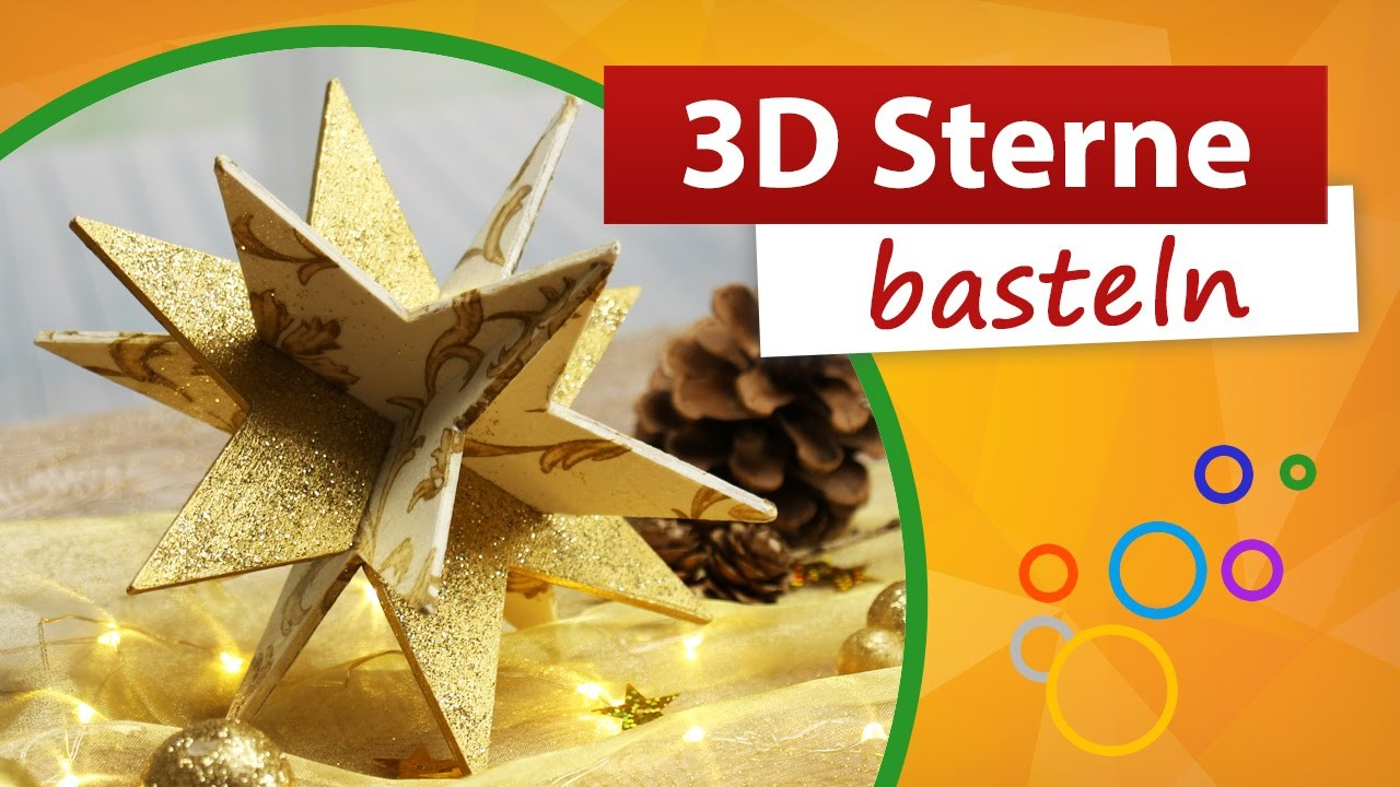 3D Sterne basteln ★ Weihnachtssterne selber machen ★ trendmarkt24