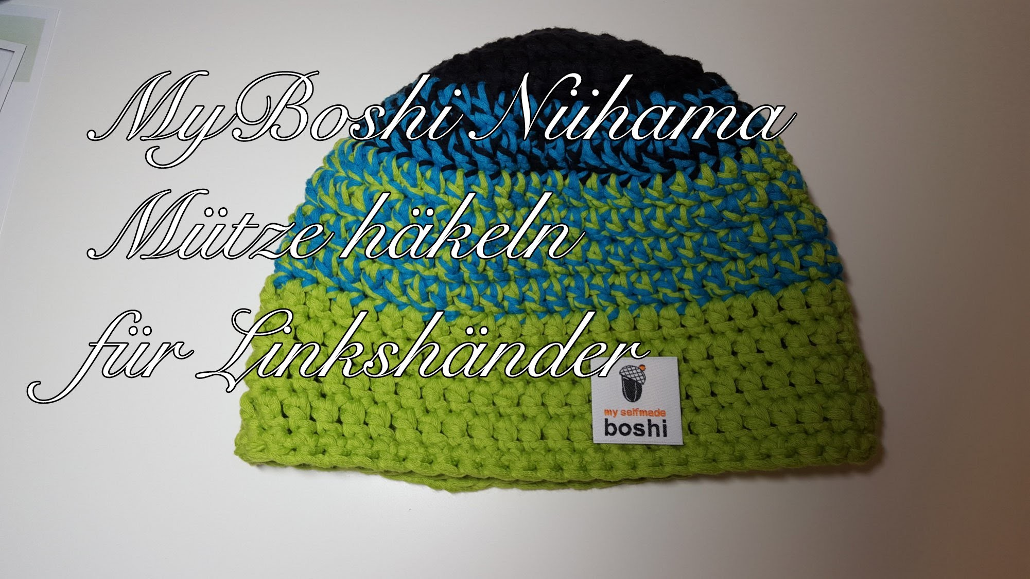 Anleitung: Stylische Häkelmütze im Boshi Style - Mütze Häkeln für Anfänger, das Tutorial