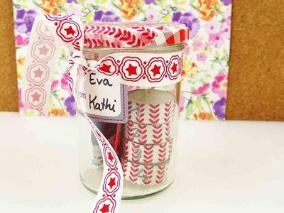 Mini Adventskranz im Glas | Kleinen Adventskranz zum Mitnehmen & Verschenken selber machen | DIY