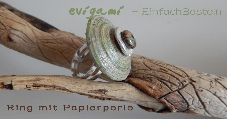 Ring mit Papierperle einfach selber machen