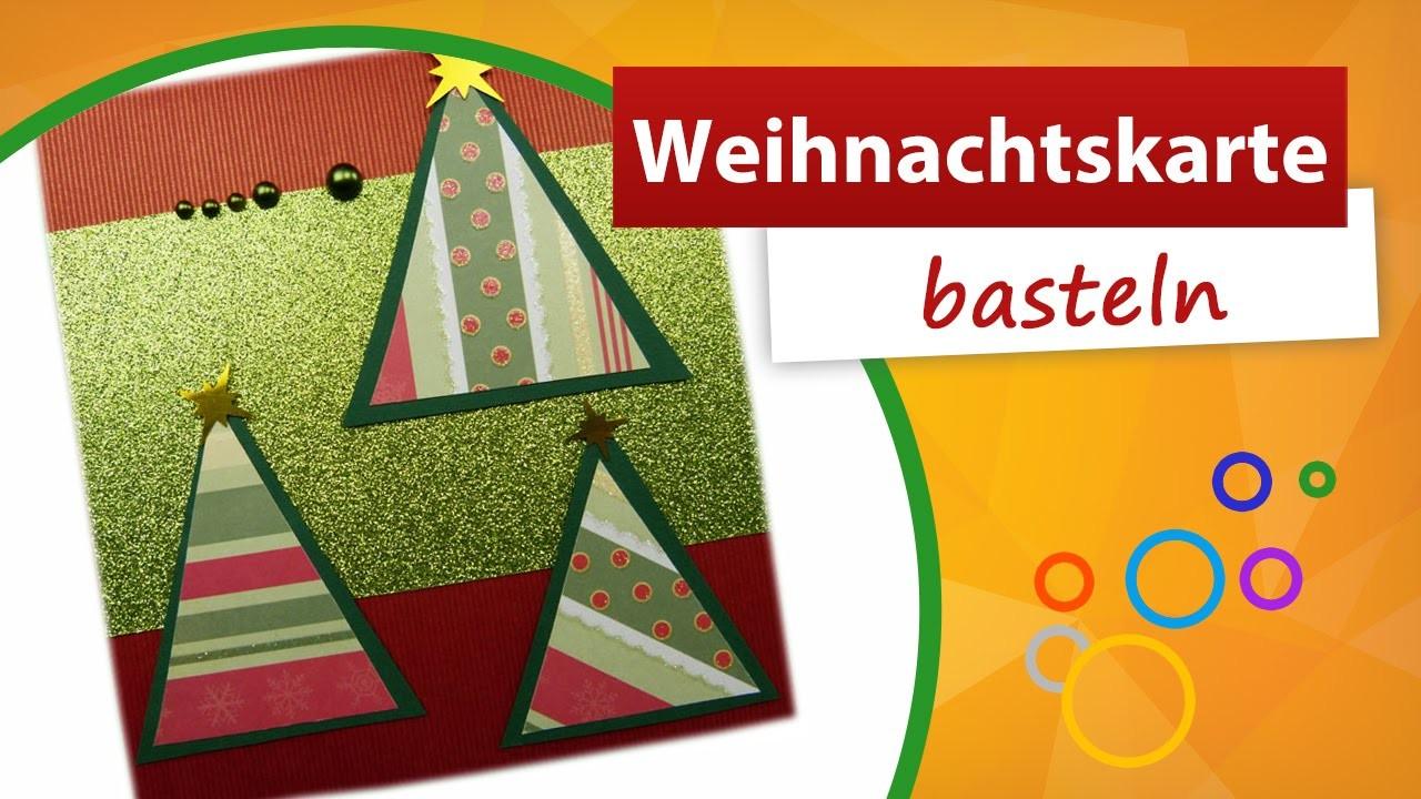 Weihnachtskarte basteln ✂ Pop Up Karte selber machen ★ trendmarkt24