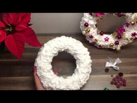 DIY Türkranz.Adventskranz basteln, Deko für Weihnachten oder als Geschenk
