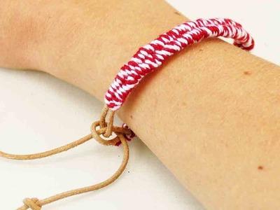 Einfaches Freundschaftsband | Zuckerstrangen Armband | Geschenk für die beste Freundin | DIY