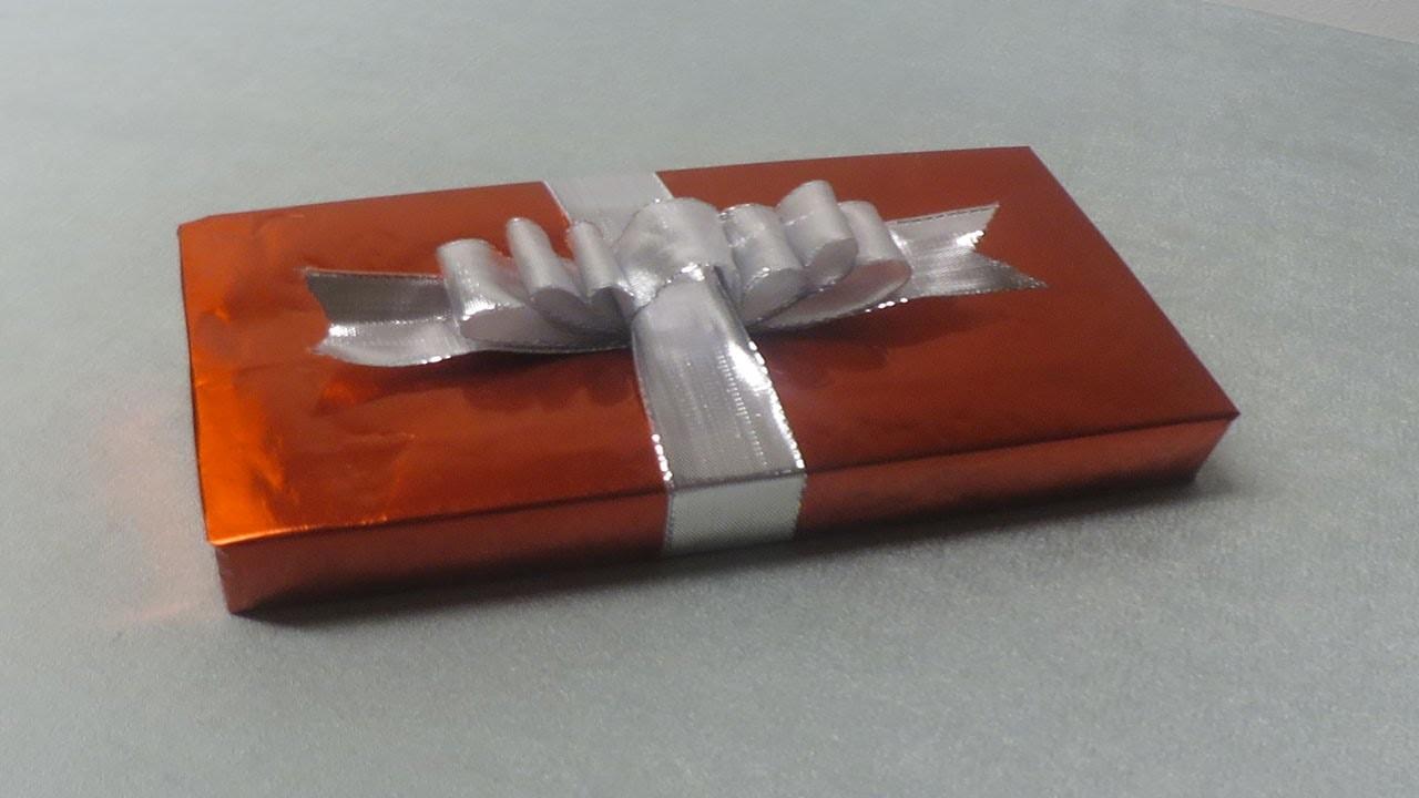 Geschenke verpacken : Schleife basteln Anleitung