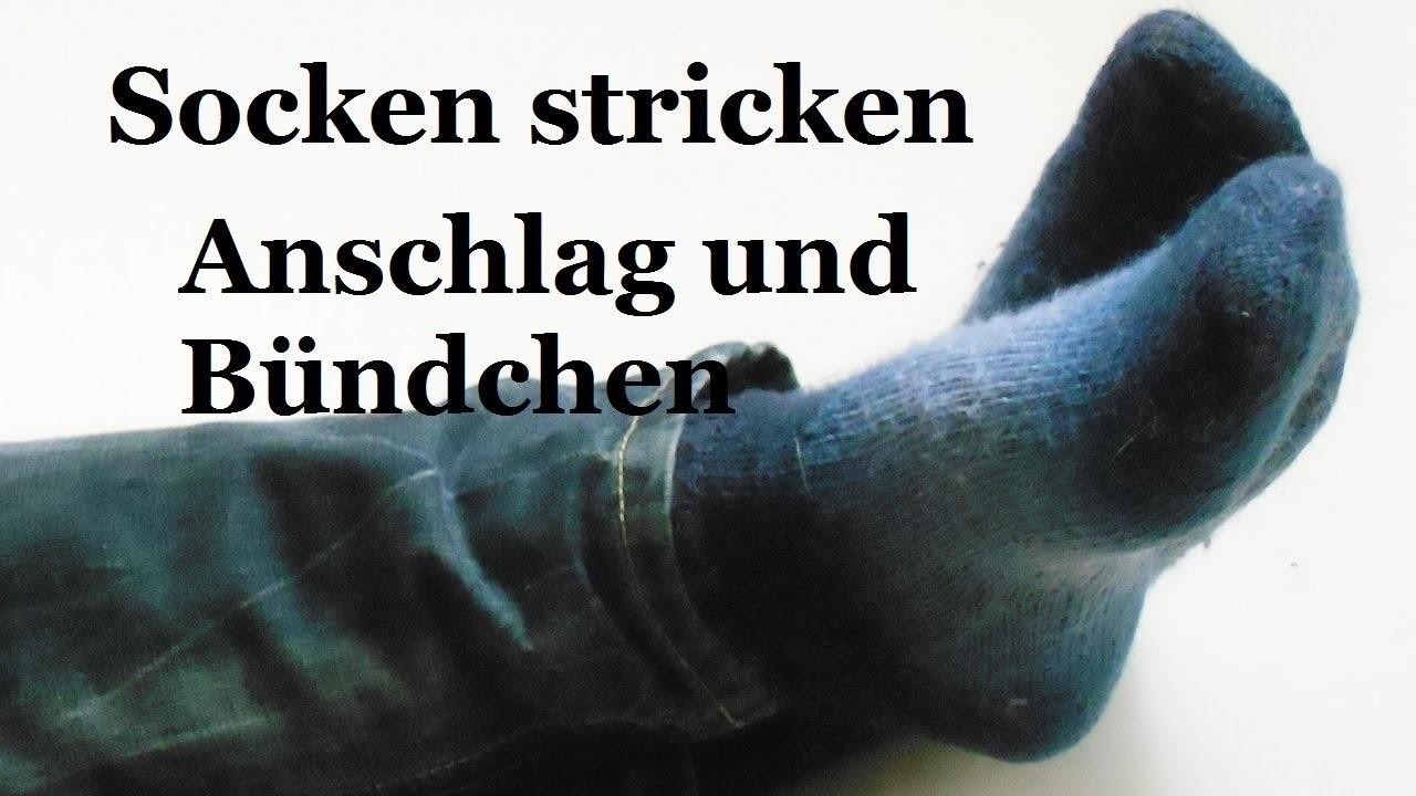 Socken stricken - Anschlag und Bündchen - Teil 1 (2014, deutsch)