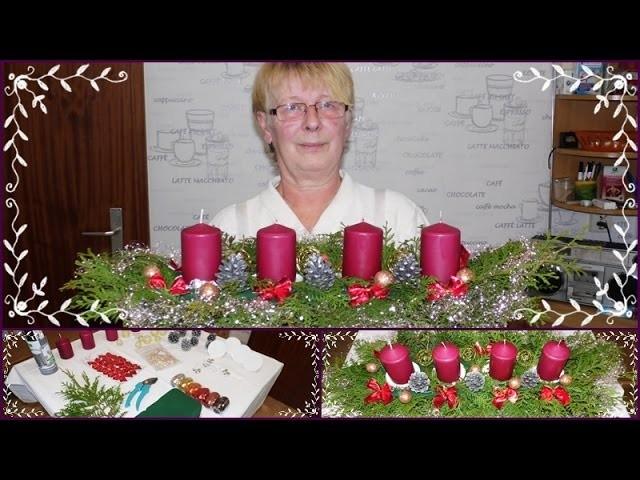DIY Adventsgesteck.Adventskranz.Weihnachtsdeko.Selber Basteln mit Mama
