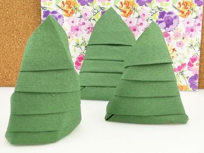 Serviette falten für Weihnachten | Tannenbaum Servietten | Tolle Tischdeko für Weihnachten