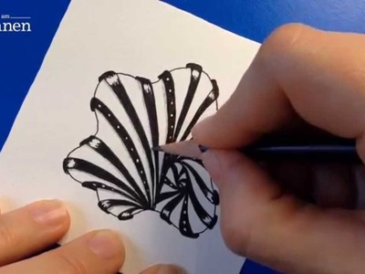"Das Zentangle-Muster ""Aquafleur"" (aus ""Der große Zentangle Video-Workshop mit Anya Lothrop"")"