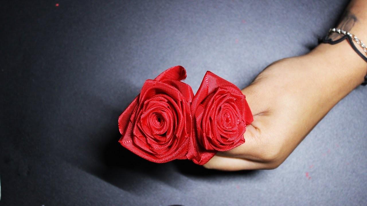 ✂ DIY | Rose aus einem Stoffband