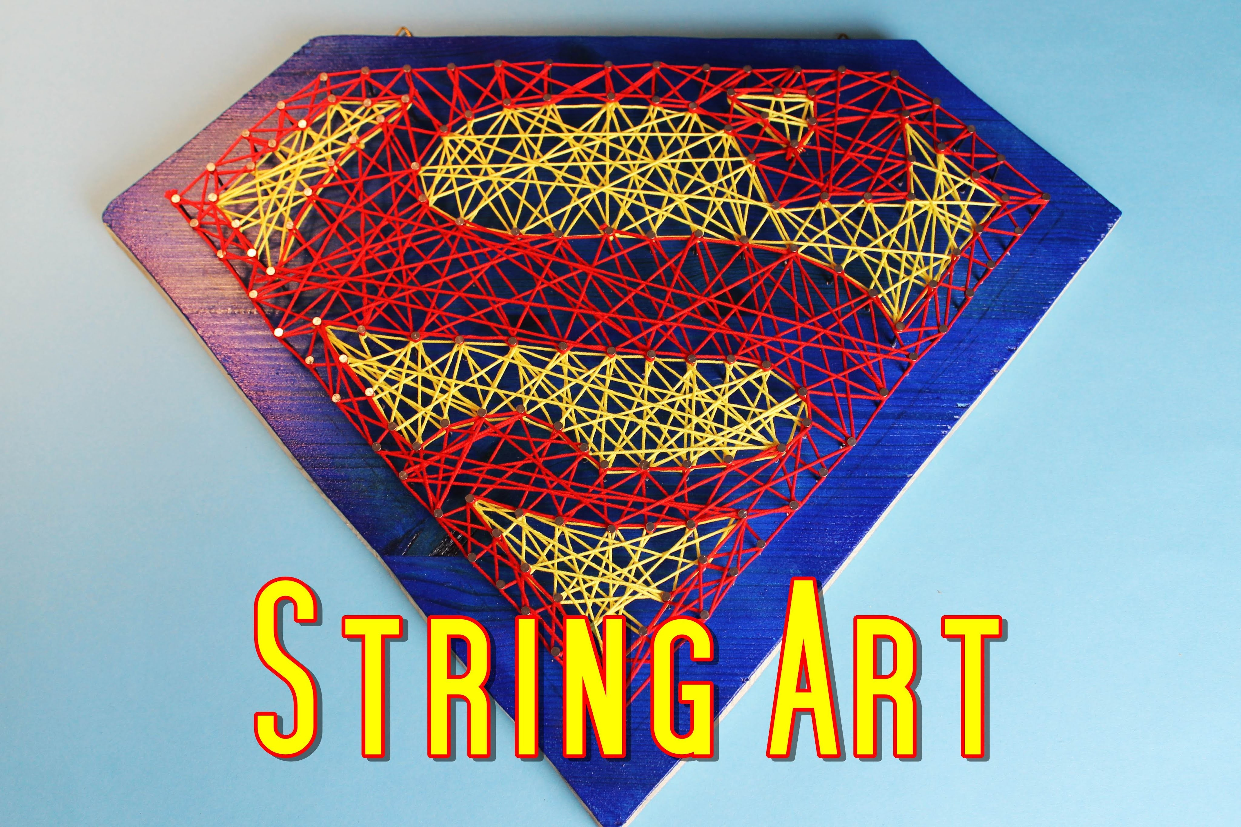 Fadenbild Superman | String Art | DIY