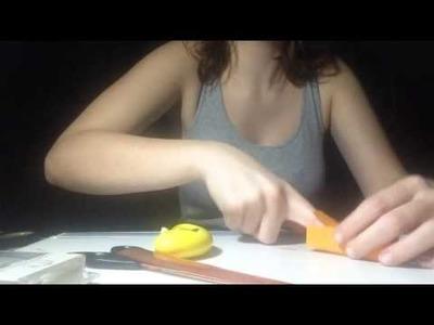 Mini-Mini-Milchkarton aus Tonpapier basteln