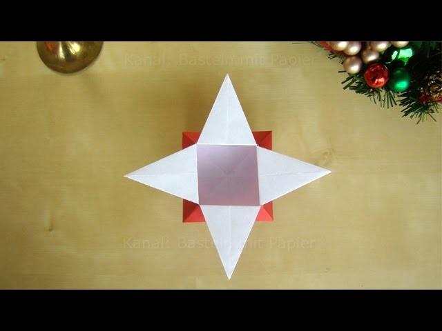 weihnachten basteln origami sterne schachtel falten. Black Bedroom Furniture Sets. Home Design Ideas