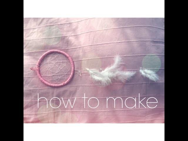 DIY dreamcatcher. rosa Traumfänger selber basteln