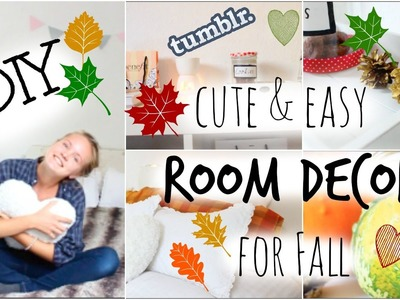 DIY TUMBLR INSPIRED ROOM DECOR - FALL