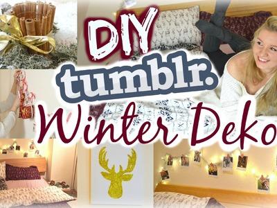 DIY TUMBLR INSPIRIERTE WINTER-.WEIHNACHTSDEKO - IDEEN für's Zimmer! mit Julia Beautx
