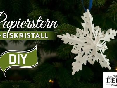 Sterne basteln: 3D Eiskristall-Weihnachtsstern - How-to | Deko Kitchen