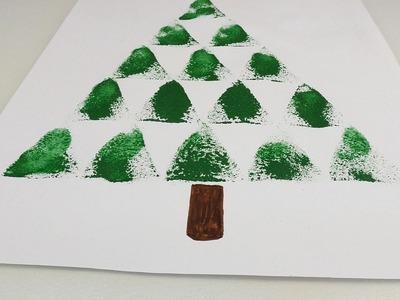 Weihnachtsbaum Basteln mit Schwamm – Pünktlich zum Fest und für Alle! Auch noch im neuen Jahr schön