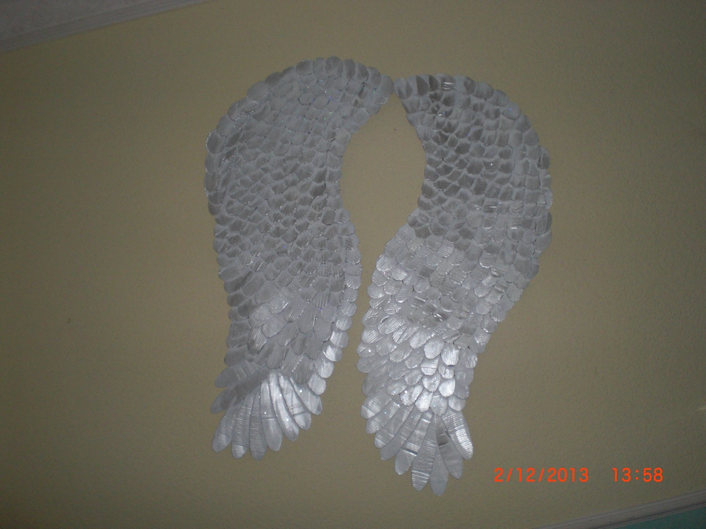 DIY - Bastelanleitung - Engelflügel - Angelwings - Flügel Engel - Flügel aus Pappe