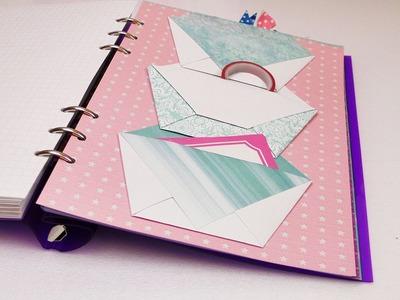DIY Filofax Aufbewahrung für Sticker, Washi Tape, Zettel | Filofaxing für Ringbücher & Kalender