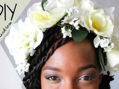 DIY Blumenkrone SUPER EASY I Blumen Haarschmuck I Blumen Haarreif